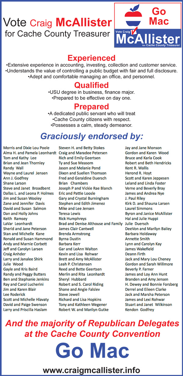 Craig McAllister Endorsements